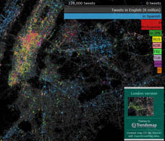 NY Tweet map